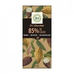 CHOCOLATE 85% TABLETA 70GR (Sol Natural)