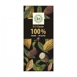 CHOCOLATE 100% TABLETA 70GR (Sol Natural)