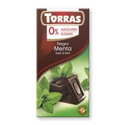 CHOCOLATE NEGRO MENTA 75GR (Torras)