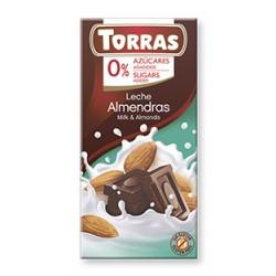 CHOCOLATE LECHE ALMENDRAS 125GR (Torras)