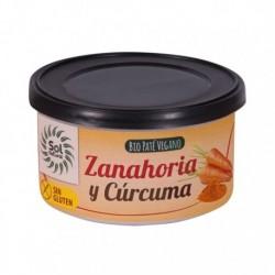 PATE ZANAHORIA CURCUMA 125GR (Sol Natural)